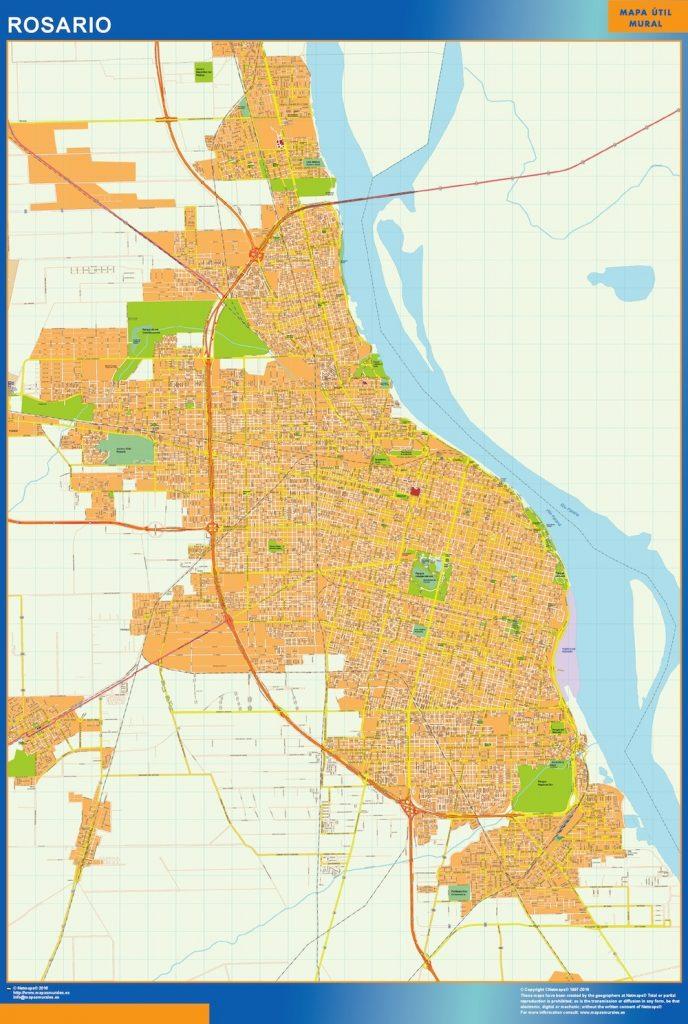 Mapa Rosario en Argentina