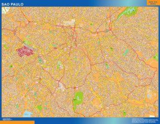 Mapa Sao Paulo Brasil