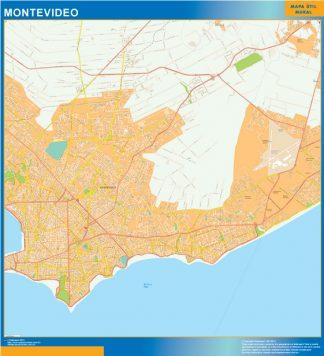 Mapa de Montevideo Uruguay
