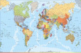 Mapa mundo francés